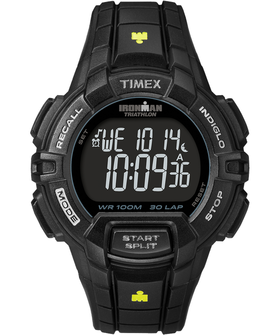 IRONMAN Rugged 30 Full-Size 44mm Resin Strap Watch Black large