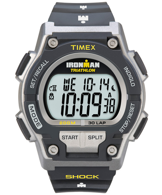 IRONMAN Original 30 Shock Full-Size 42mm Resin Strap Watch Black/Gray large