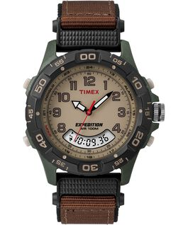 Expedition 39mm Nylon Strap Watch Green/Brown/Tan/Black large