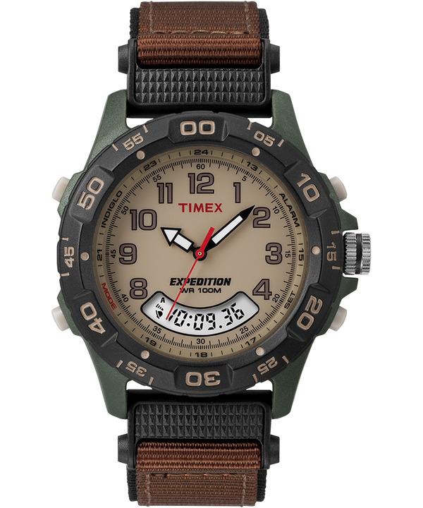 Expedition 39mm Fabric Strap Watch Green/Brown/Tan/Black large