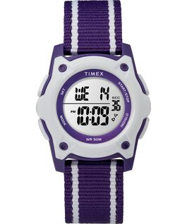 a74442387 Youth Digital 35mm Double Layer Striped Nylon Strap Watch Purple/White large