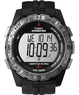 Expedition Scout 43mm Resin Strap Watch Black/Silver-Tone large