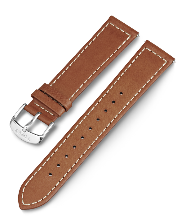 20mm Tan Leather Replacement Strap  (large)