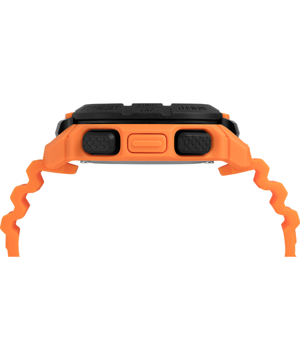Timex Command™ 47mm Silicone Strap Watch Orange/Black large