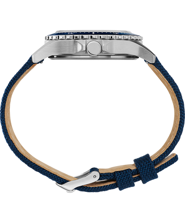 Navi XL 41mm Fabric Strap Watch Featuring NASA Logo on Dial Stainless-Steel/Blue/White large