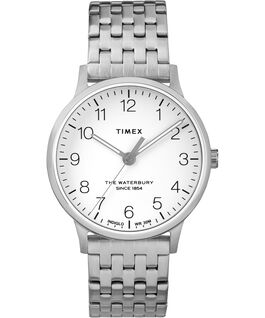 Waterbury 36mm Classic Stainless Steel  Strap Watch Stainless-Steel/White large