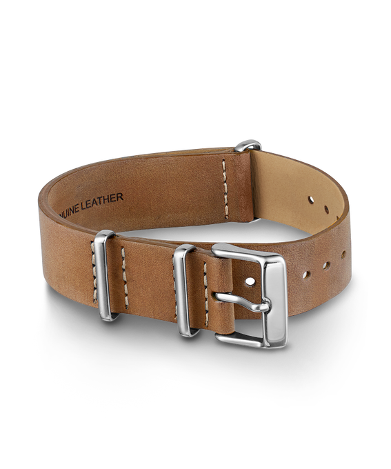 20mm Slip Thru Leather Strap 1 Champagne large