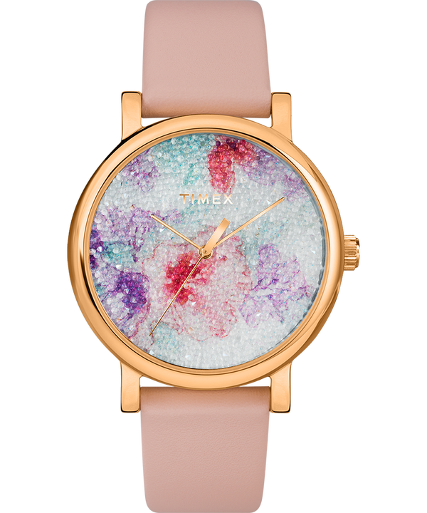 Crystal Bloom 38mm with Leather Strap  large