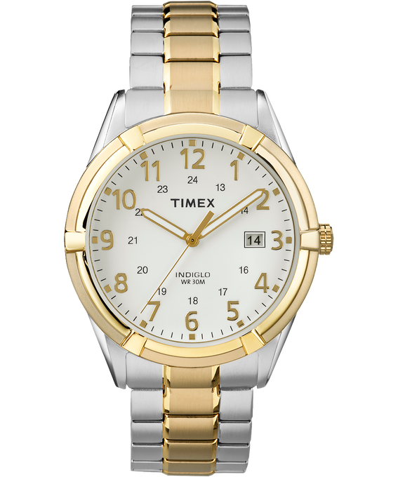 Easton Avenue 39mm Stainless Steel Watch Two-Tone/White large