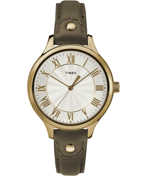 Peyton 36mm Leather Watch with Brass Grommet  large