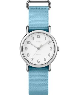 Weekender Pastels 31mm Nylon Strap Watch Silver/Blue/White large