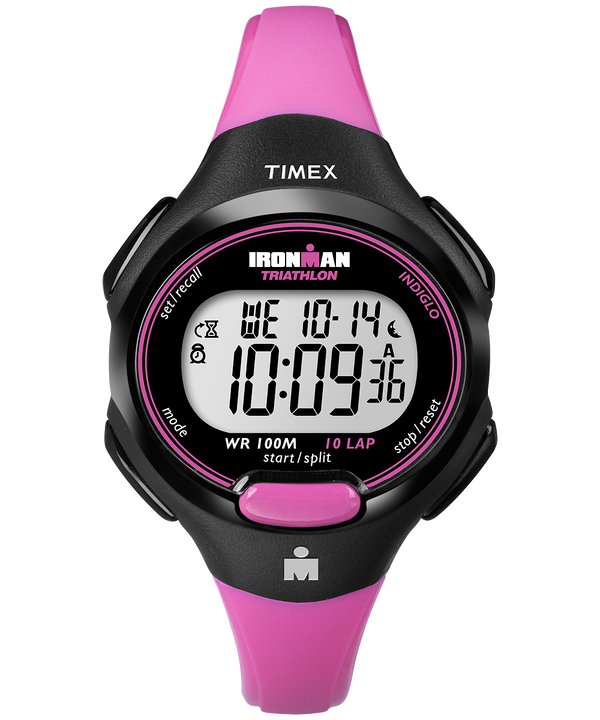 IRONMAN Essential 10 Mid-Size Resin Strap Watch Black/Pink large