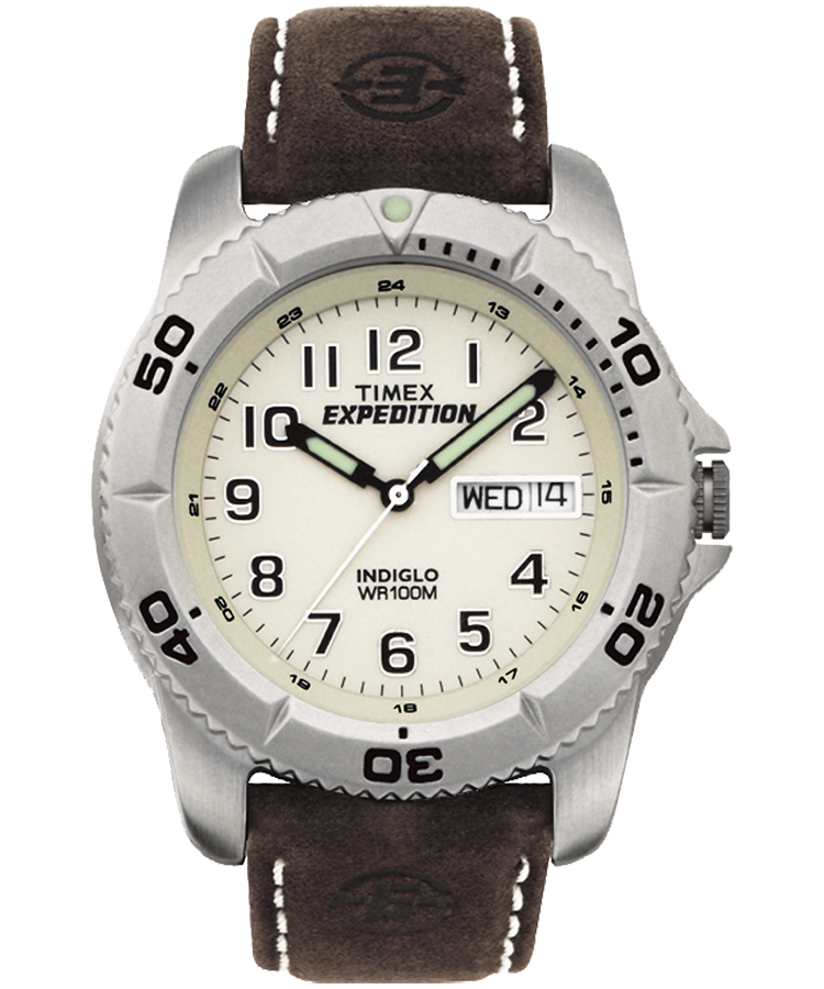 expedition traditional 40mm leather watch timex us rh timex com Timex Indiglo WR 50M Watch timex expedition indiglo wr50m manual