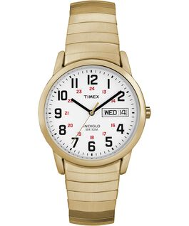 Easy Reader 35mm Stainless Steel Watch Day Date Gold-Tone/White large