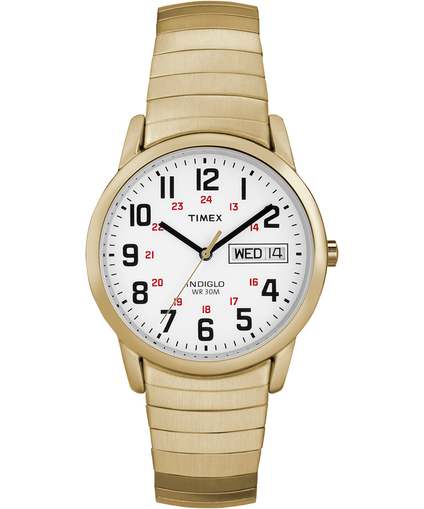 Easy Reader Day Date 35mm Expansion Band Watch Gold-Tone/White large