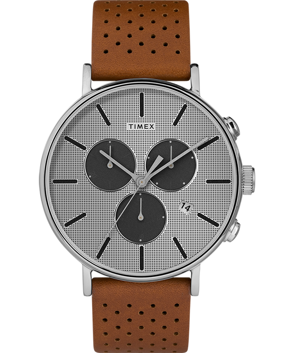 Fairfield Supernova 41mm Leather Strap Watch  large