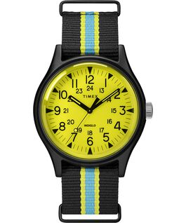 MK1 California 40mm Fabric Strap Watch Black/Yellow large
