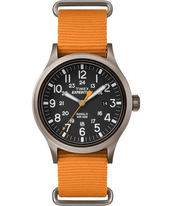 Expedition Scout 40mm Nylon Watch Gray/Orange/Black large