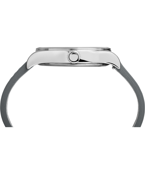 Waterbury Traditional 40mm Leather Strap Watch Stainless-Steel/Gray large