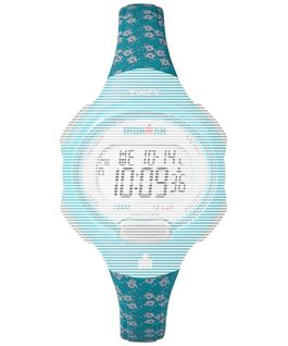 Replacement 12mm Floral Resin Strap for Ironman Essential 10 Mid-Size Blue large