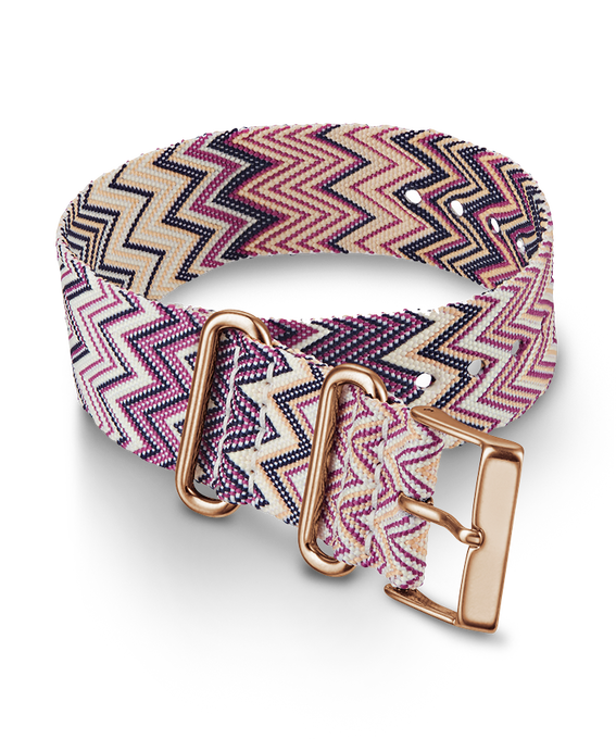Weekender Nylon Chevron Patterned Strap Purple large