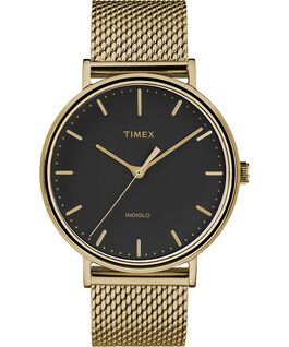 Fairfield 41mm Mesh Stainless Steel Watch Gold-Tone/Black large