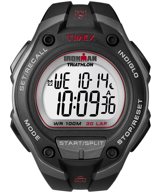 IRONMAN Classic 30 Oversized 43mm Resin Strap Watch Gray/Black large
