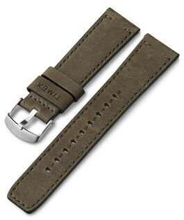 22mm Quick Release Leather Strap Green large