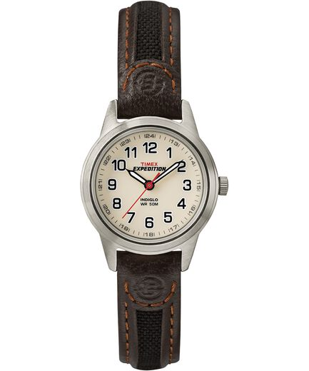 74119f2b19f2 Expedition Field Mini 26mm Leather Strap Watch Silver-Tone Brown Natural  large