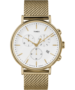 Fairfield Chronograph 41mm Mesh Stainless Steel Watch Gold-Tone/White large