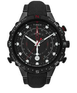 Allied 45mm Fabric Strap Watch Black large