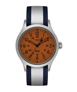 Allied 40mm Reversible Fabric Strap Watch  large