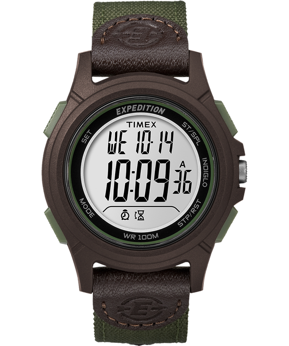 Expedition Basic Digital 41mm Nylon Strap Watch Brown/Green large