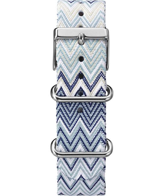Weekender Nylon Chevron Patterned Strap Blue large