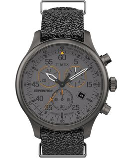 Expedition Field Chronograph 43mm Fabric Strap Watch Gray large