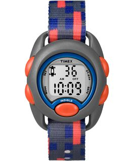 Kids Digital Watch with Nylon Strap Gray/Red large