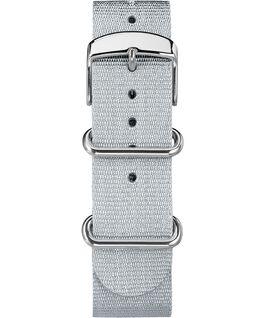 20mm Metallic Slip-Thru Fabric Strap Silver-Tone large