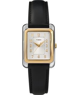 Meriden 25mm Leather Strap Watch Two-Tone/Black large