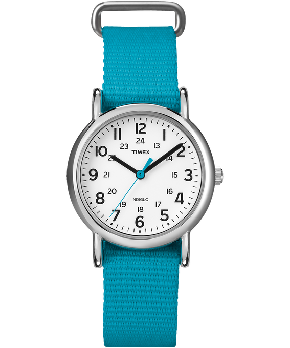Weekender 31mm Nylon Strap Watch Chrome/Blue/White large