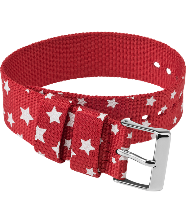 20mm Fabric Slip-Thru Single Layer Strap Red large