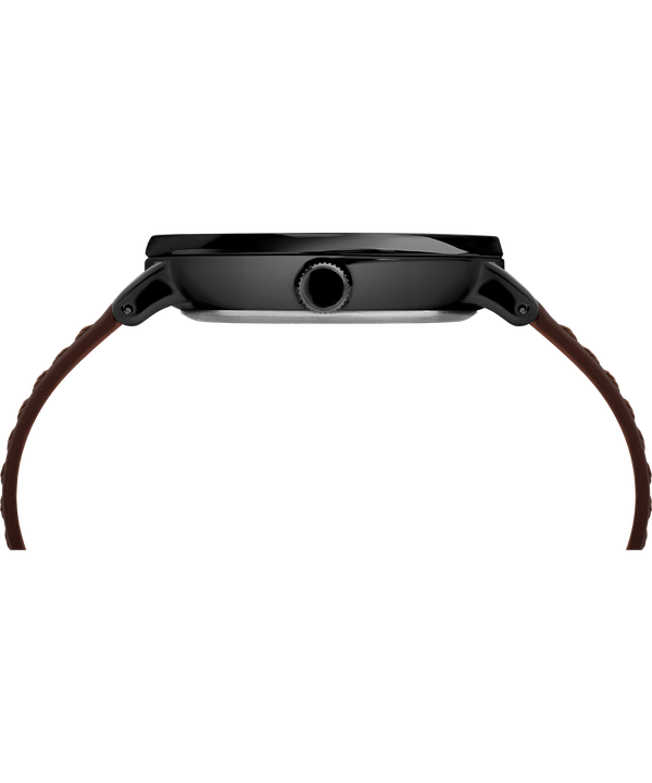 Southview 41mm Leather Strap Watch Black/Brown large