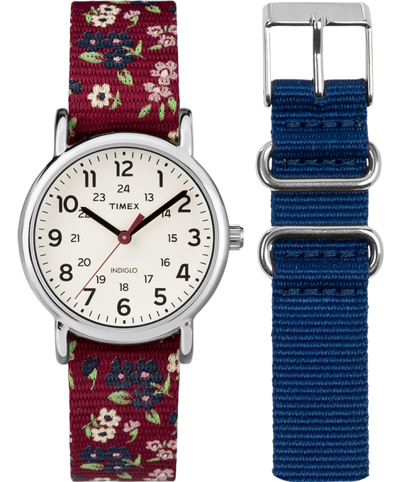 Weekender 31mm Floral Strap/Cream Dial Gift Set  large