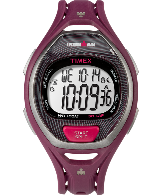 IRONMAN Sleek 50 Full-Size 37mm Resin Strap Watch Magenta/Pink large