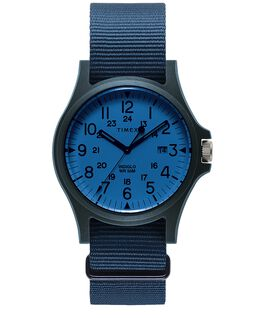 Acadia 40mm Fabric Strap Watch Blue/Blue large