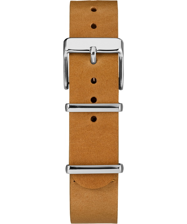 18mm Leather Slip-Thru Double Layer Strap Tan large