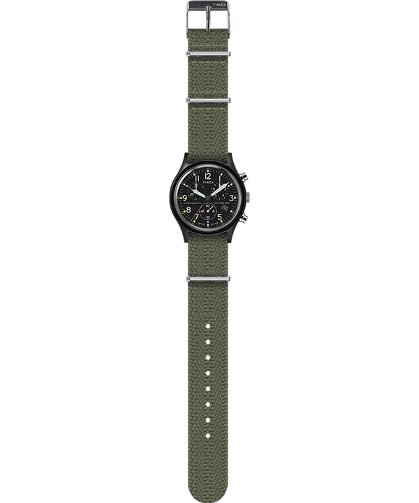 MK1 Chronograph 40mm Fabric Strap Watch Black/Green large