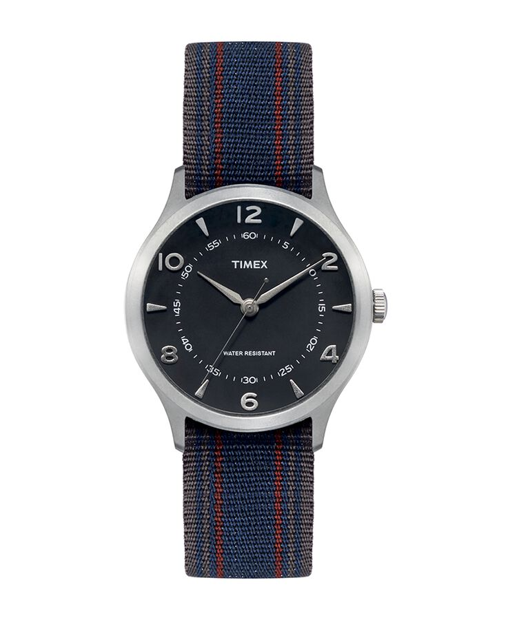 WHITNEY VILLAGE 36MM REVERSIBLE GROSGRAIN STRAP WATCH