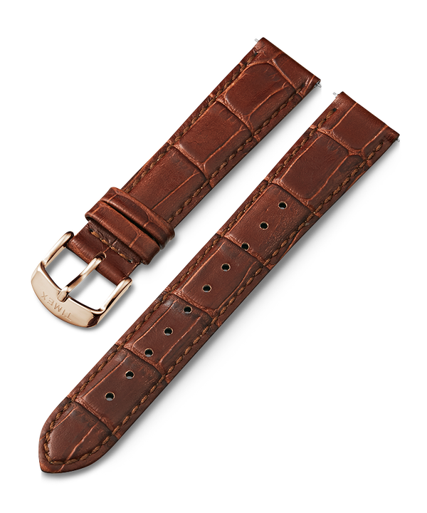 18mm Quick Release Leather Strap Brown large