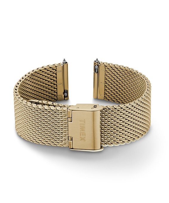 20mm Quick Release Mesh Band Gold-Tone large