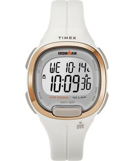 Ironman Transit 10 33mm Mid-Size Resin Strap Watch White/Rose-Gold-Tone large